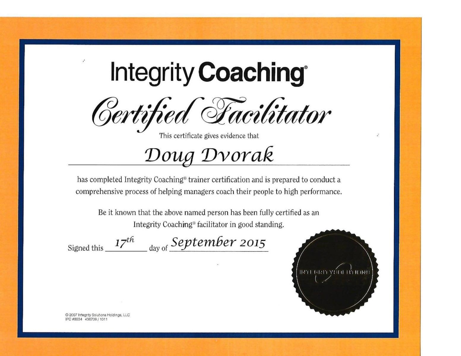 Doug Dvorak now joins the