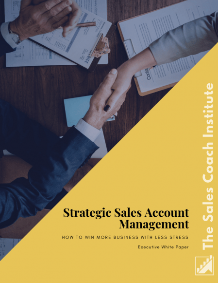 Strategic Sales Account Management Whitepaper _Cover