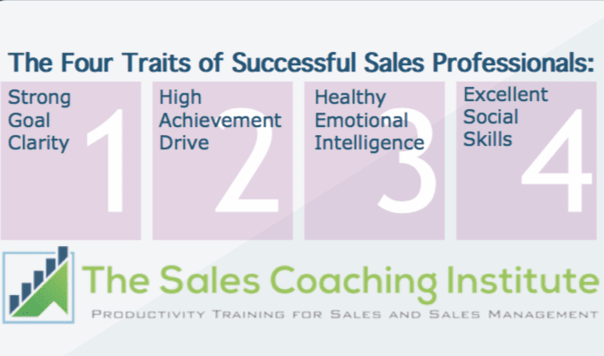 The Four Traits of Successful Sales Professionals